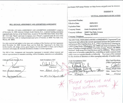 forged-asset-acceptance-llc-cfpb-deborah-everly-signatures